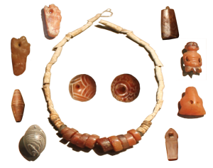 Carnelian jewelry, National Museum of Beirut