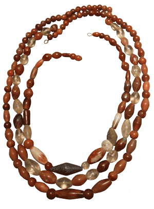Carnelian necklace, National Museum of Beirut