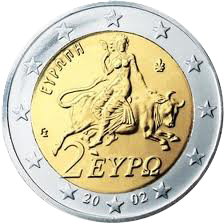 Europa, Greek Coin 2€