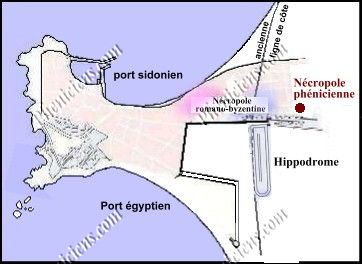 Plan of the city of Tyre.